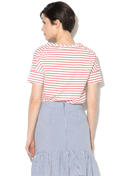 Esprit Раирана тениска с пришит джоб на гърдите Жени