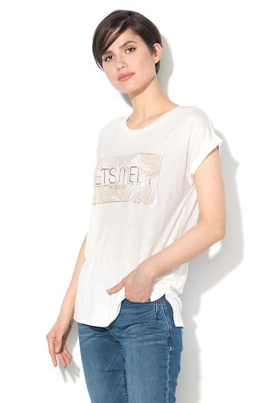 Esprit Тениска от жарсе и метализирана щампа Жени
