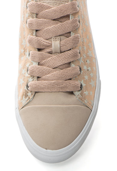 Esprit Pantofi sport cu segmente metalizate Femei