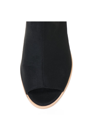 Release Sandale cu toc masiv si bareta pe glezna,  Imitatie de piele intoarsa Femei