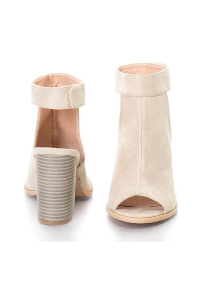 Release Sandale cu toc masiv si bareta pe glezna,  Imitatie de piele intoarsa, 36, Crem Femei
