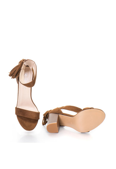 Release Sandale cu toc masiv si canafi,  Piele sintetica Femei