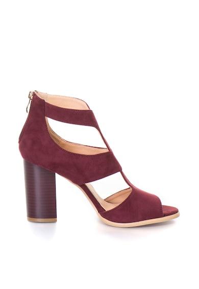 Release Sandale cu toc masiv,  Imitatie de piele intoarsa Femei
