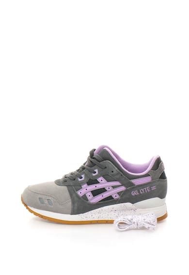 Asics Pantofi sport de piele cu talpa cu pete decorative GEL-LYTE III Femei
