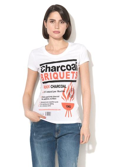 Love Moschino Tricou cu imprimeu text Femei