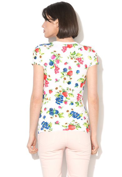 Love Moschino Tricou cu decolteu rotund si imprimeu model cu fructe Femei
