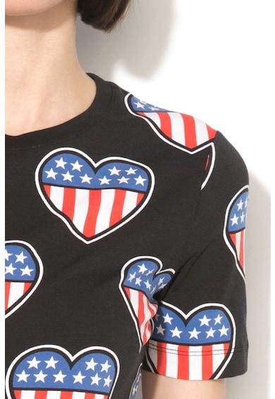 Love Moschino Tricou cu imprimeu inima Femei