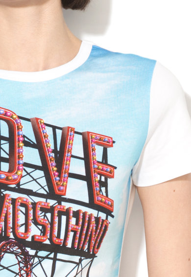 Love Moschino Tricou cu imprimeu foto Femei