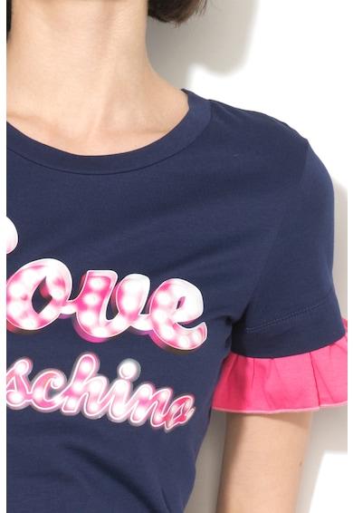 Love Moschino Tricou de bumbac cu aspect 2in1 Femei