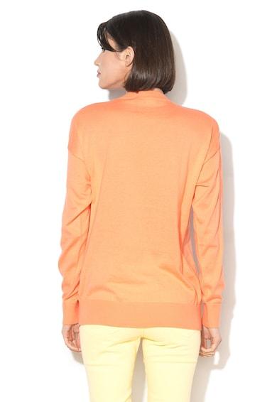 Love Moschino Пуловер с фина плетка и щампа отпред Жени