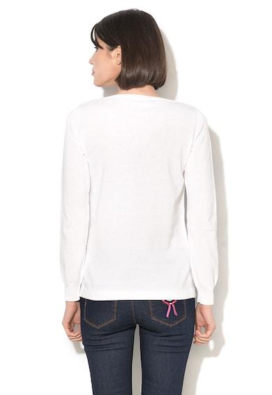 Love Moschino Пуловер с бродиран текст и дълги ръкави Жени