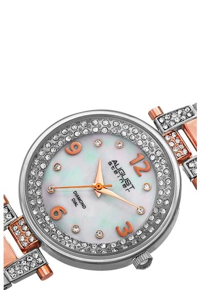 August Steiner Ceas rotund decorat cu cristale Femei
