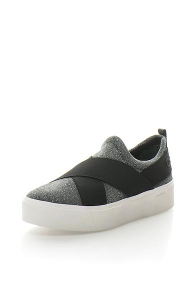 Calvin Klein Обувки Jenifer с равна платформа без закопчаване, с нишки от лурекс Жени