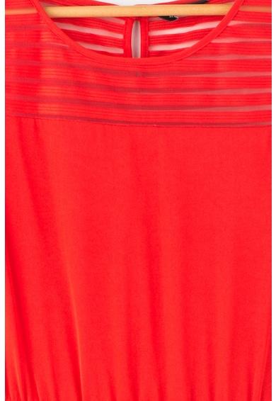 GUESS JEANS Bővülő fazonú ruha horgolt szoknyával Lány