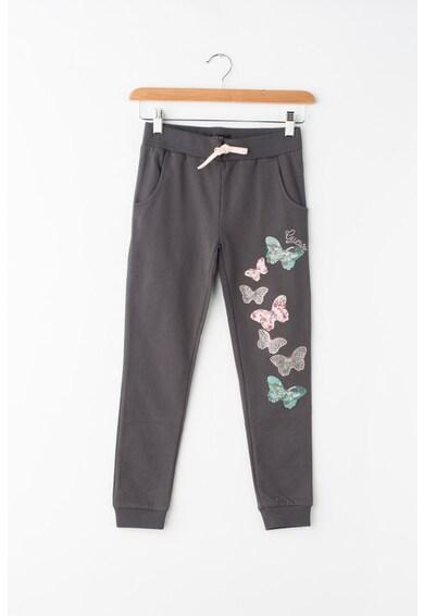 GUESS JEANS Спортен панталон с ниско дъно и декоративни камъни Момичета