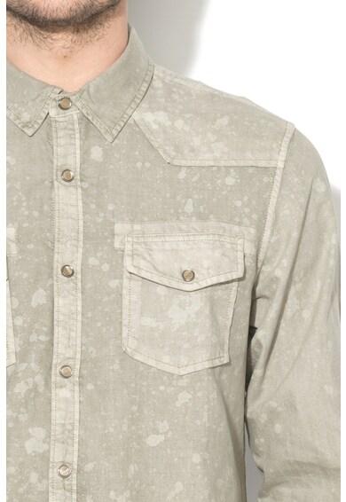 GUESS JEANS Вталена риза с ефект на петна Мъже