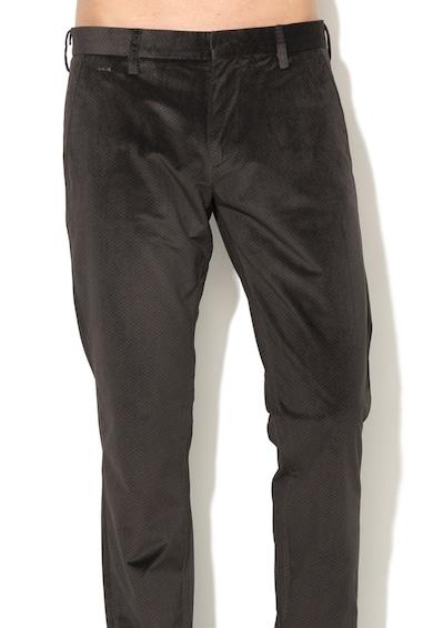 GUESS JEANS Pantaloni skinny eleganti cu aspect catifelat si model geometric Barbati