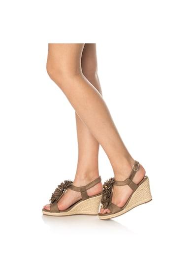Release Sandale wedge tip espadrile,  Piele sintetica Femei