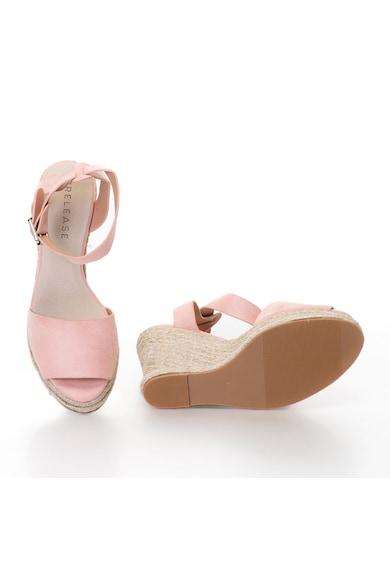Release Sandale wedge cu bareta pe glezna,  Piele sintetica si interior de piele naturala Femei
