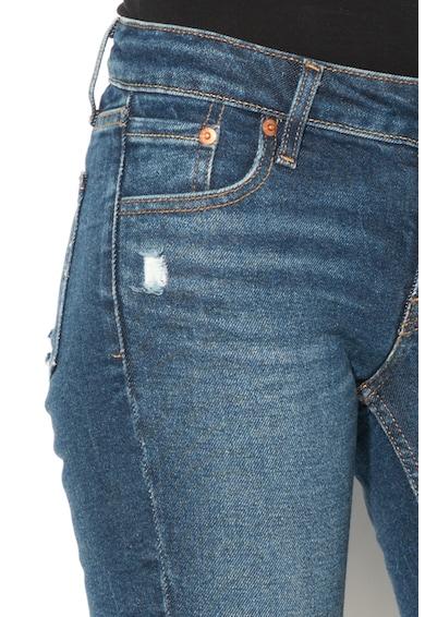Levi's Blugi skinny cu aspect deteriorat si decolorat 711 Femei