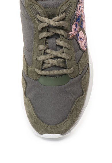Le Coq Sportif Omega hálós anyagú sneakers cipő nyersbőr hatású szegélyekkel női