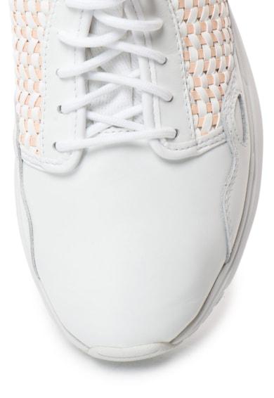 Le Coq Sportif LCS Flow bőr sneakers cipő szövött hatással női