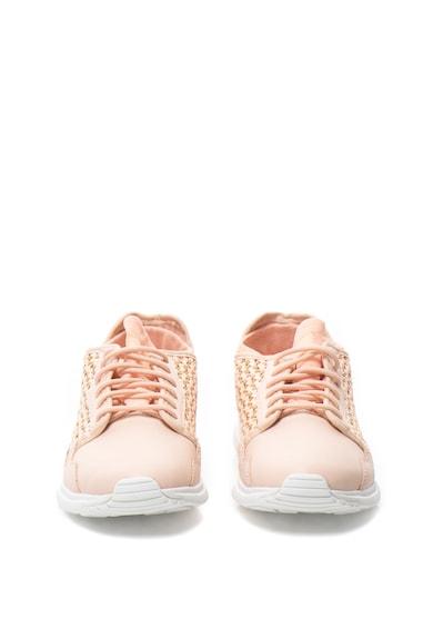 Le Coq Sportif Pantofi sport slip-on cu garnituri cu aspect tesut R Flow Femei