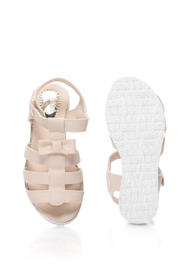bibi kids Sandale de piele sintetica cu funda Flat Fashion Fete