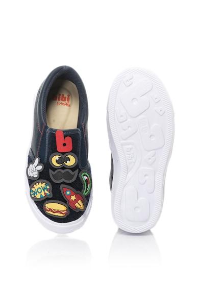 bibi kids Pantofi slip-on cu insertii de piele si aplicatii detasabile Agility Baieti