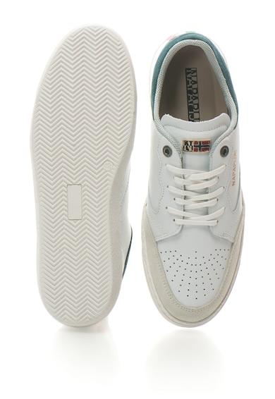 Napapijri Sirola bőr sneakers cipő logómintával férfi
