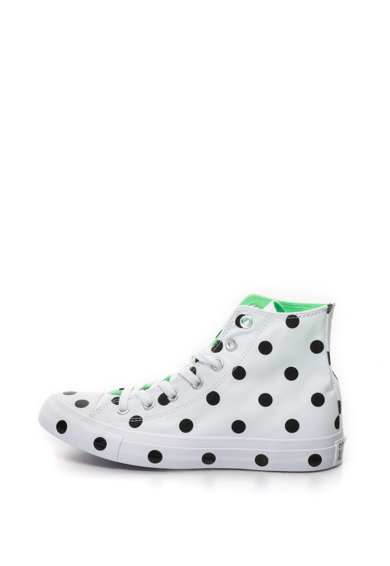 Converse Chuck Taylor All Star pöttyös magas szárú cipő női