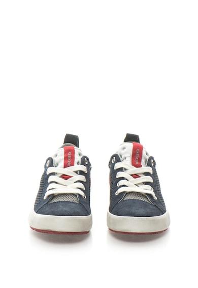 Geox Pantofi sport cu garnituri de piele intoarsa si plasa Alonisso Baieti