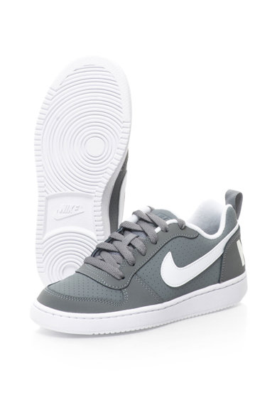 Nike Pantofi sport de piele sintetica Court Borough Baieti