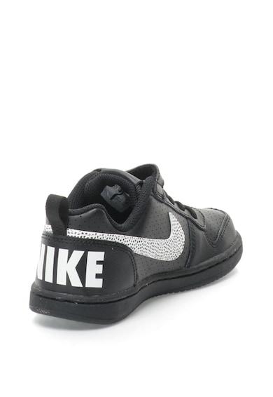 Nike Pantofi sport cu talpa joasa, garnituri de piele si logo Court Borough Baieti