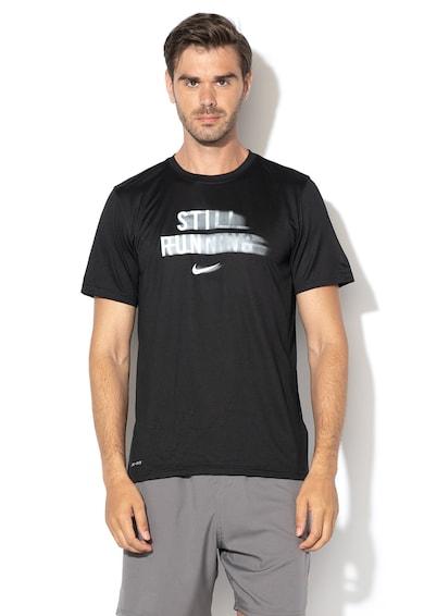Nike Szövegmintás futópóló férfi