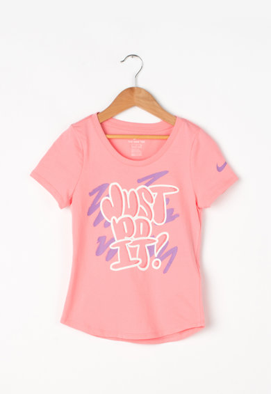 Nike Athletic cut feliratos póló Lány