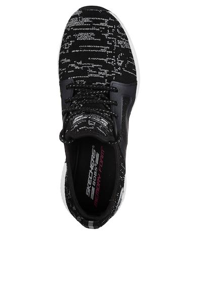 Skechers Pantofi sport cu insertii de lurex si finisaj lucios Bobs Squad Femei