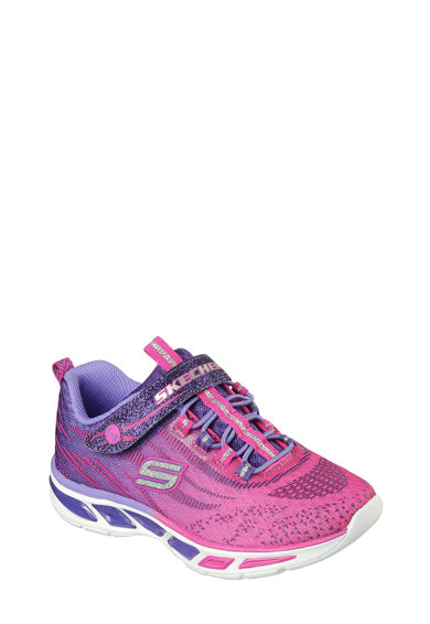 Skechers Pantofi sport din plasa tricotata cu banda velcro Litebeams Fete