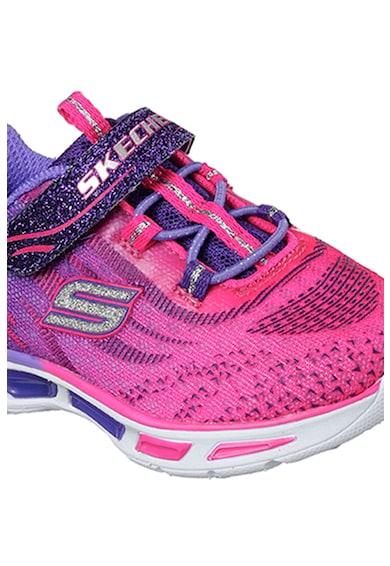 Skechers Pantofi sport din plasa tricotata cu aspect in degrade Litebeams Fete