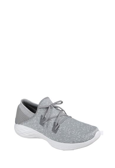 Skechers You kötött hatású, hálós anyagú bebújós sneakers cipő női