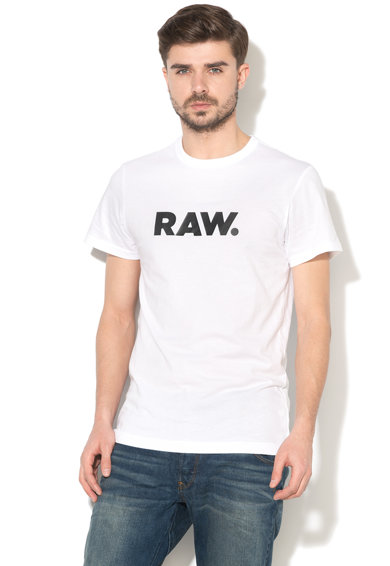 G-Star Raw Tricou regular fit cu imprimeu text Holorn Barbati