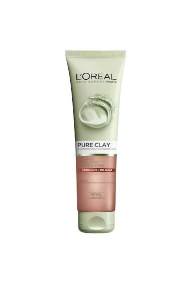 L'Oreal Paris Gel de curatare exfoliant pentru fata  Pure Clay, 150 ml Femei