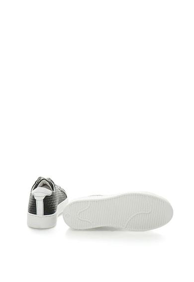 Tamaris Pantofi sport de piele cu aspect tesut Femei