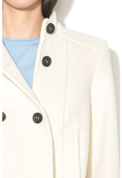 United Colors of Benetton Jacheta din amestec de lana cu guler scurt Femei