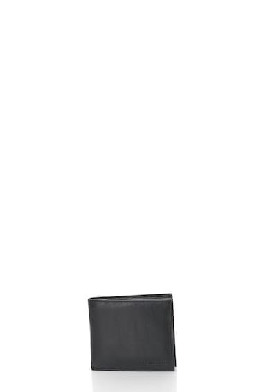 Pellearts Portofel pliabil de piele cu logo Barbati