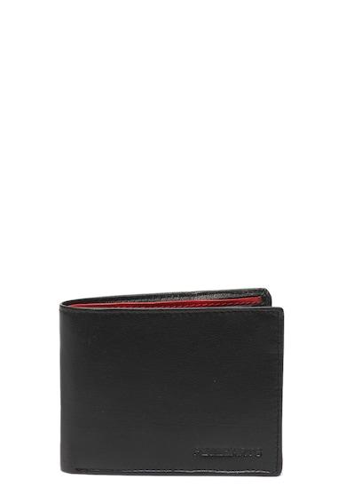 eb956b80f9c7 Bőr pénztárca - Pellearts (14302-BLACK-RED)