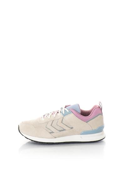 Hummel Pantofi sport din piele intoarsa si material textil Marathona II Femei