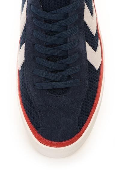 Hummel Pantofi sport de plasa tricotata cu garnituri de piele intoarsa Diamant Barbati