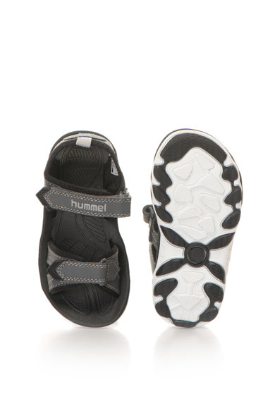 Hummel Sandale de piele sintetica cu velcro si talpa plata Baieti