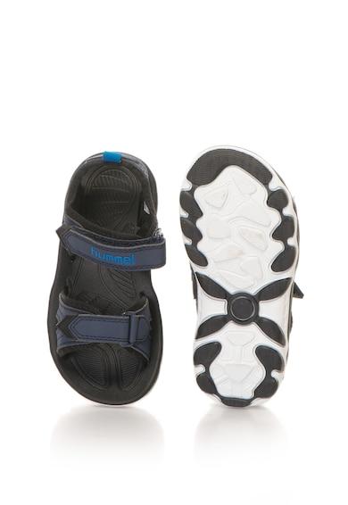 Hummel Sandale de piele sintetica, cu velcro si talpa plata Baieti